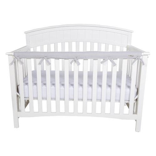 Crib Wrap Rail Cover (Long, Grey)