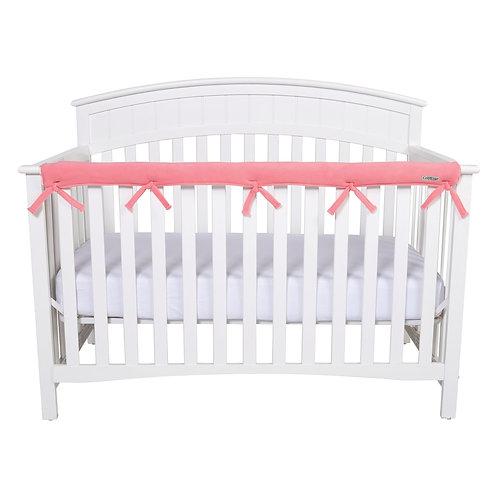 Crib Wrap Rail Cover (Long, Coral)