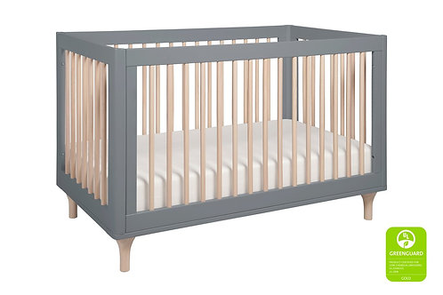 [No Toddler Rail] Lolly 3-in-1 Convertible Crib (Grey/Washed)