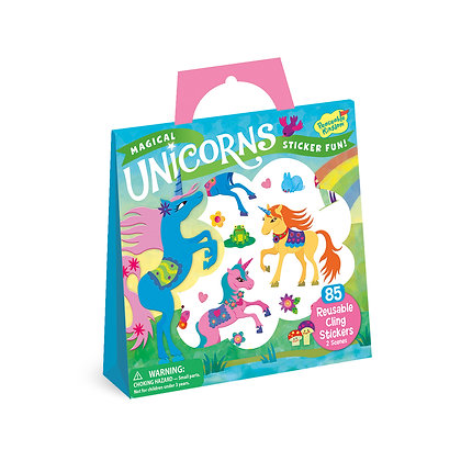 Reusable Sticker Tote: Magical Unicorns