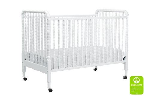Jenny Lind Portable 3-in-1 Convertible Crib (White)