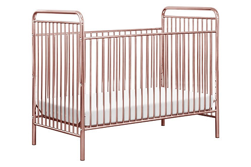 Jubilee 3-in-1 Convertible Metal Crib (Pink)
