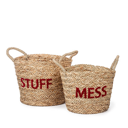Messy & Stuff - Set of 2 (Red)