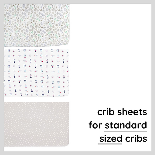 3-Piece Crib Sheet Bundle
