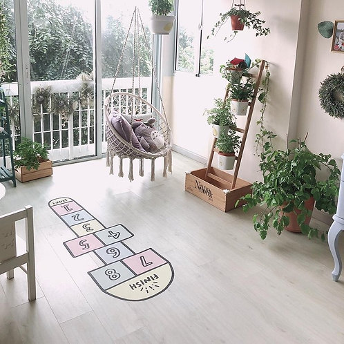 Hopscotch Fabric Floor Decal (Pastel)