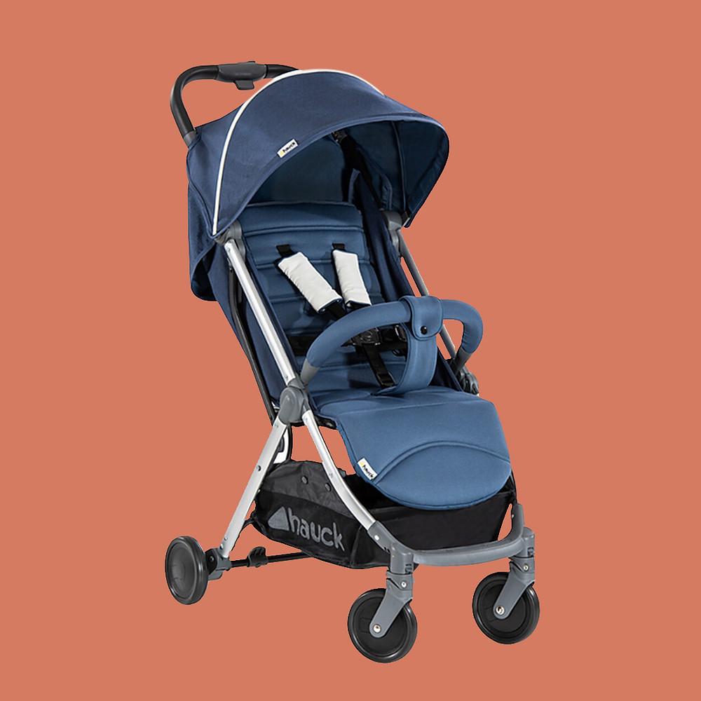 Hauck one hand fold swift plus blue stroller lightweight