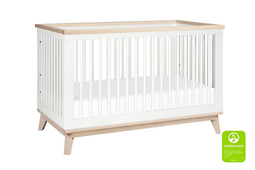 Scoot 3-in-1 Convertible Crib (White/Washed)
