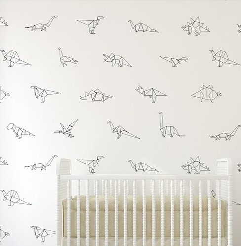 Paper Dinos Wall Decal