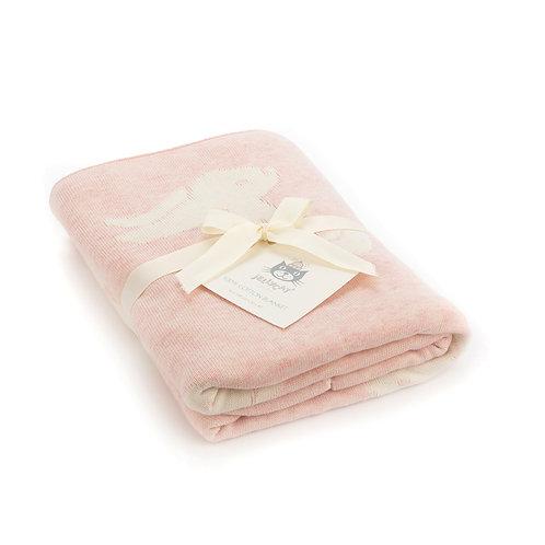 Pink Bashful Bunny Blanket