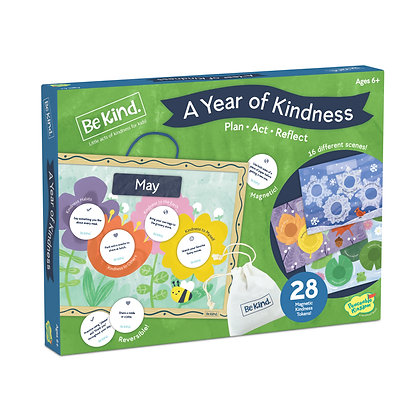 A Year of Kindness Calendar: Monthly Activity Board of Caring Activities