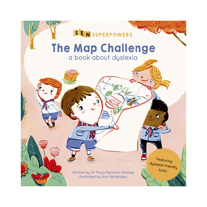 Sen Superpowers: The Map Challenge - A Book about Dyslexia (Paperback)