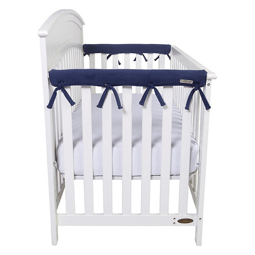 Crib Wrap Rail Cover (Short, Navy, 2-Piece Set)
