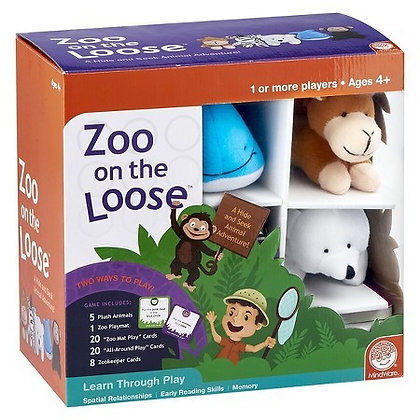 Mindware Zoo on the Loose: Stuffed Animal Color Matching Game Kids