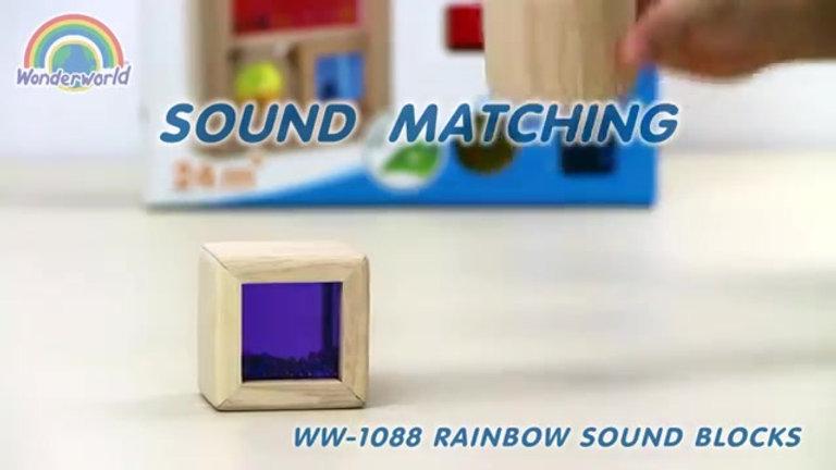 Wonderworld Wooden Rainbow Sound Blocks Josh Cherie
