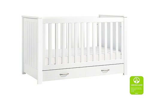 Asher 3-in-1 Convertible Crib (White)