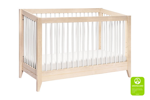 (In Stock) Sprout 3-in-1 Convertible Crib (Washed/White)