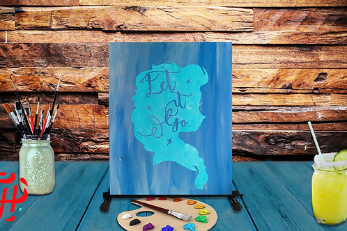Let It Go Wood Sign Experience