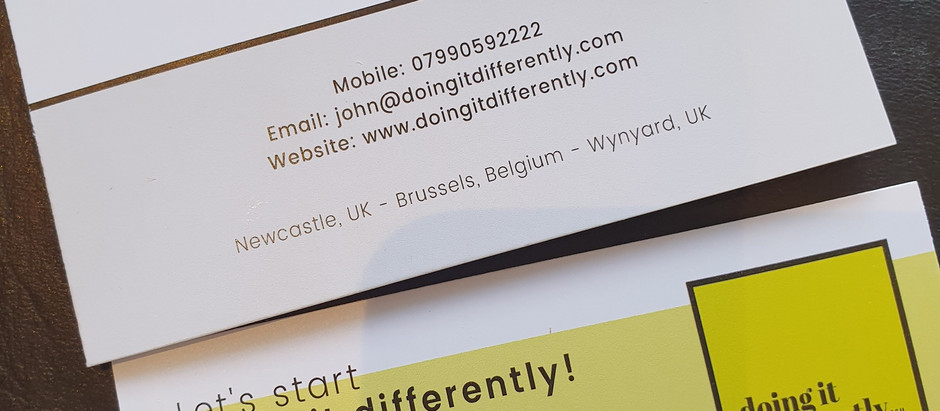 """""""Here's my card; if you or anyone you know needs help with marketing, give me a call."""""""