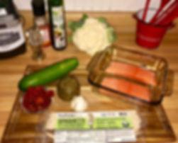 Cauliflower Salmon Alfredo Ingredients