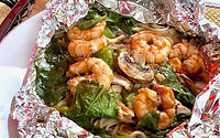 Shrimp on the BBQ Good Carb Pasta Recipe