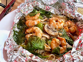 BBQ Noodle Shrimp off the BBQ