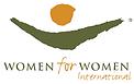 Nadja supports Women for Women Internati