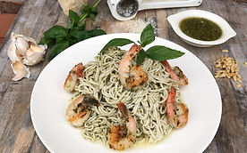 Low Gi Pesto Prawn and Pasta