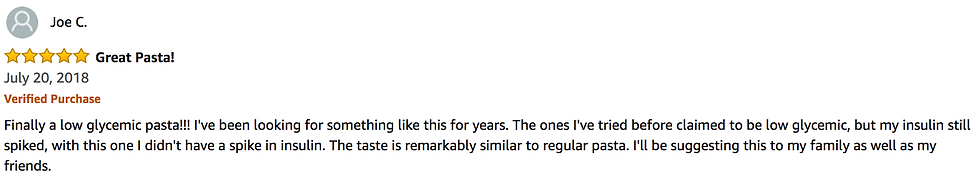 Great Pasta 5 Star Amazon Review