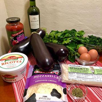 Ingredients for Mediterranean Dinner