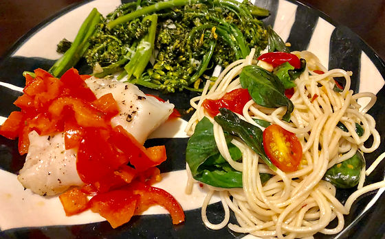 Tomato Basil Slow Carb Pasta Dinner