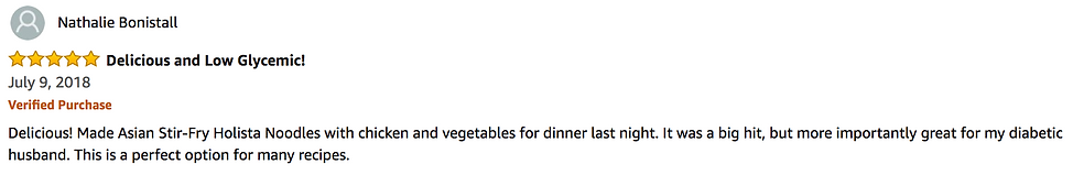 Delicious and Low Glycemic 5 Star Amazon Review