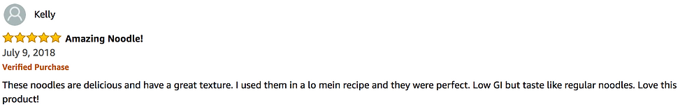 Amazing Noodles 5 Star Amazon Review