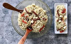 Low GI Noodle tofu sundried tomato