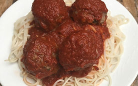 Good carb and protein pasta and meatballs