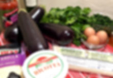 Holista Pasta and Eggplant Lasagna Ingredients