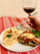 Holista Mediterranean Inspired Eggplant Lasagna with Wine