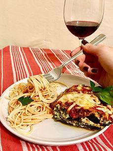 Holista Mediterranean Inspired Eggplant Lasagna with Wine