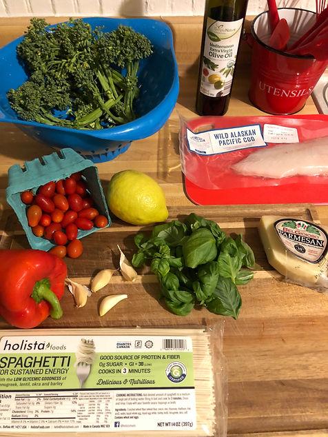 Holista Spaghetti Dinner Ingredients