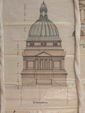 Design for the dome of Old College, University of Edinburgh, 1886