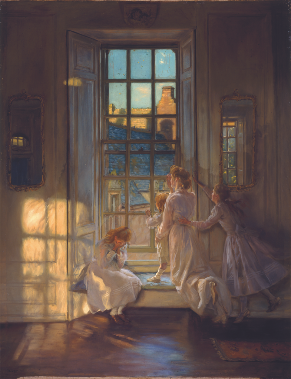 The Flight of the Swallows, oil on canvas, 1906 by John Henry Lorimer  (1856-1936).  City Art Centre, Museums and Galleries Edinburgh.