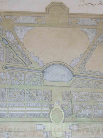 Detail of a garden plan, circa 1730