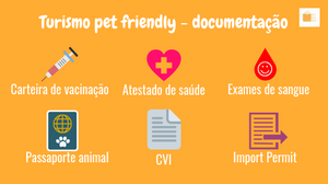 Documentação para viajar com pet