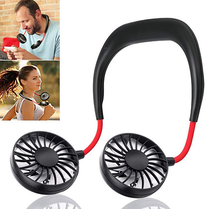 Hand Free Personal Fan Wearable Portable Neckband
