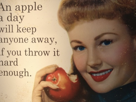 An alternative use for today's apple