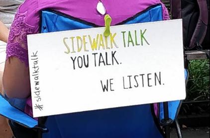 #Sidewalktalk