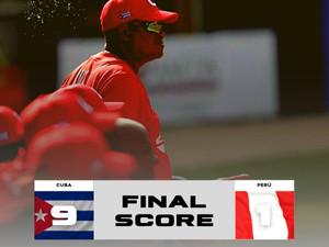 Segundo triunfo de Cuba en III Copa del Caribe, esta vez 9-1 sobre Perú. Lunes ante Islas Vírgenes