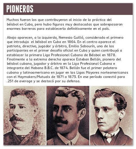 Pioneros del Béisbol Cubano