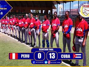 III Copa del Caribe: Cuba noquea 13-0 a Perú y cierra con 6-0 la ronda eliminatoria