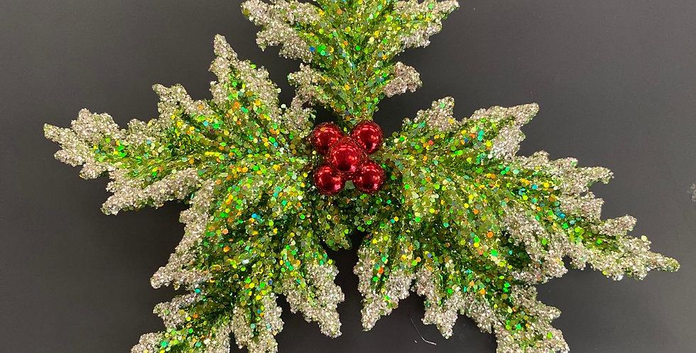 Acrylic Holly ornament