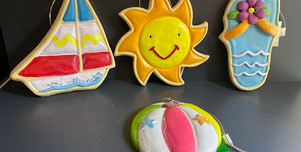 Beach ornaments 4asst